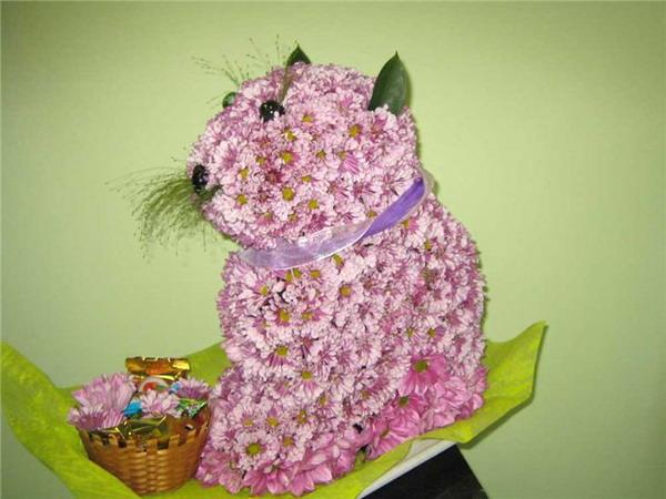 Красивые и необычные букеты цветов фото 5